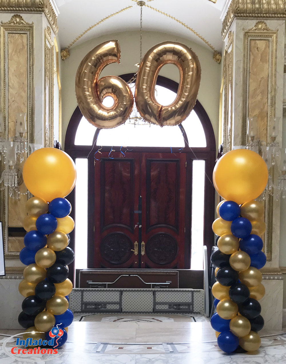 Megaloon Numbers - 60th Anniversary Balloons