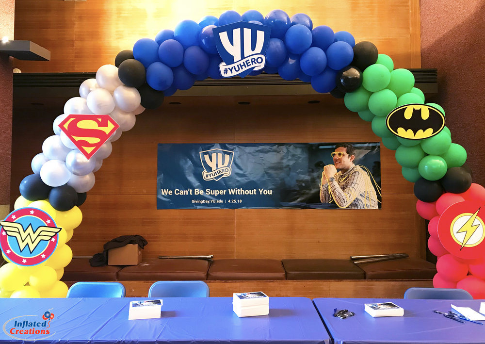 Justice League Balloon Arch