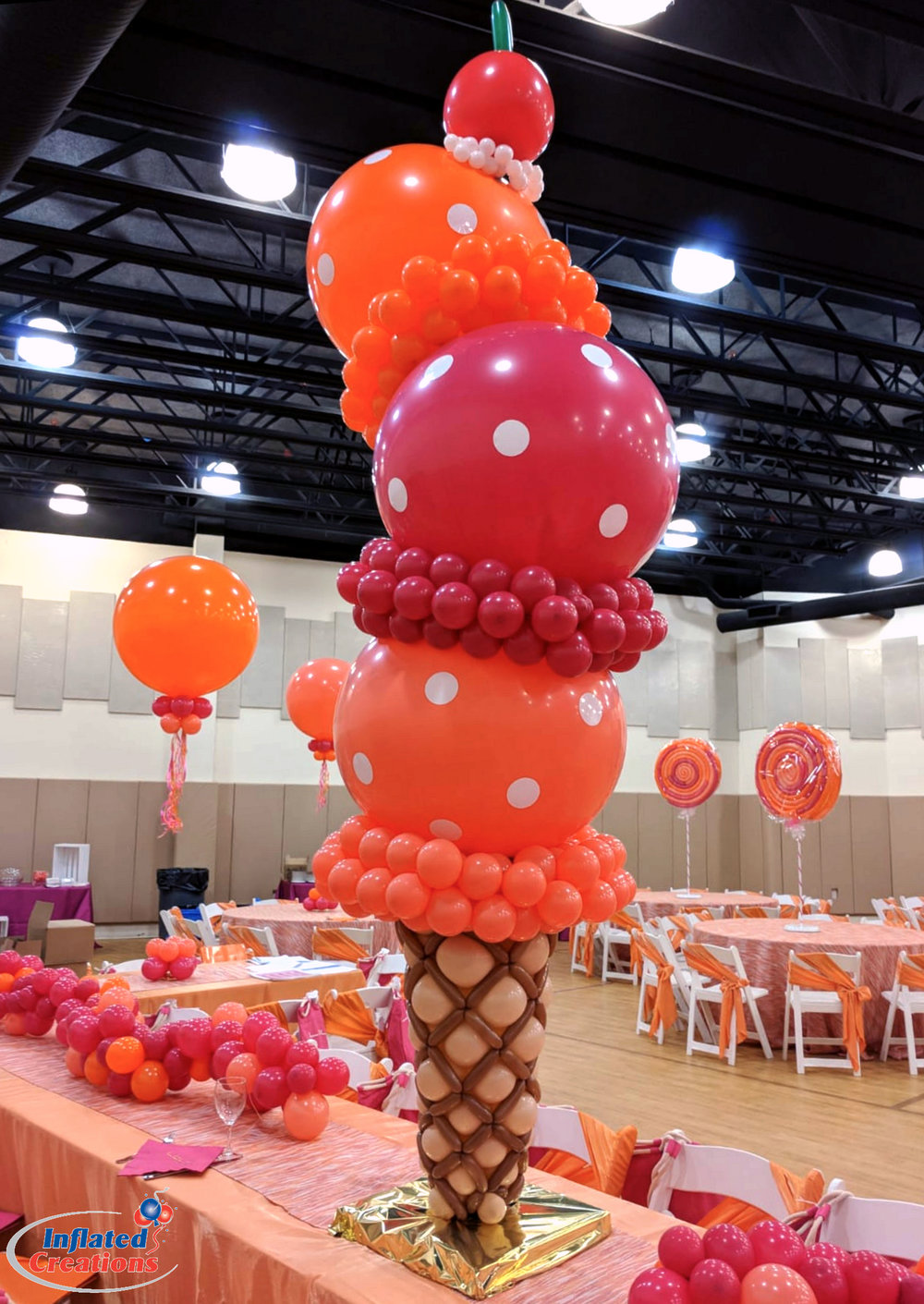 Cherry on Top Ice Cream Cone Balloons