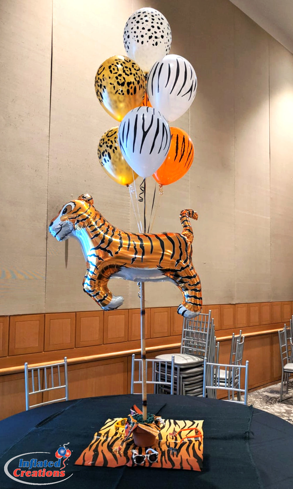 Bouquet of Seven - Tiger Animal Print Safari/Zoo Party