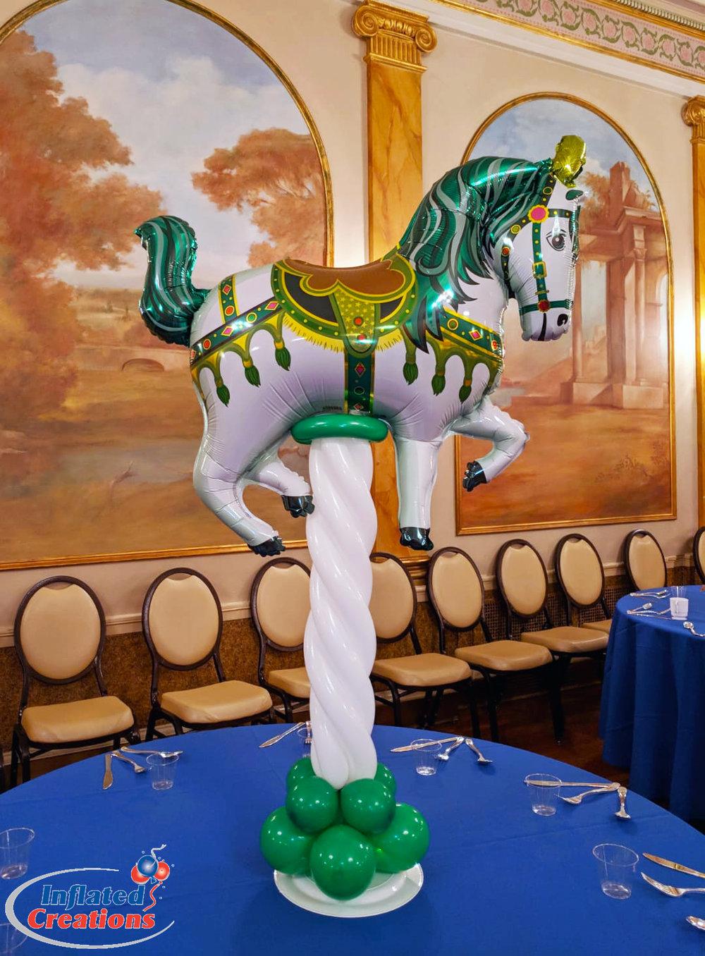 Carousel Balloon Horse Centerpiece