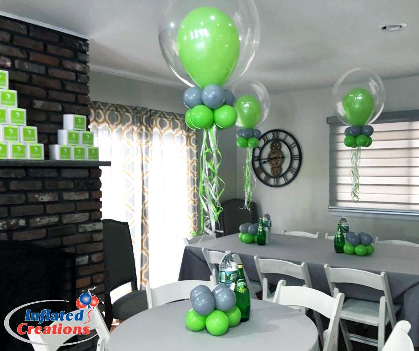 Double Bubble Gray & Lime