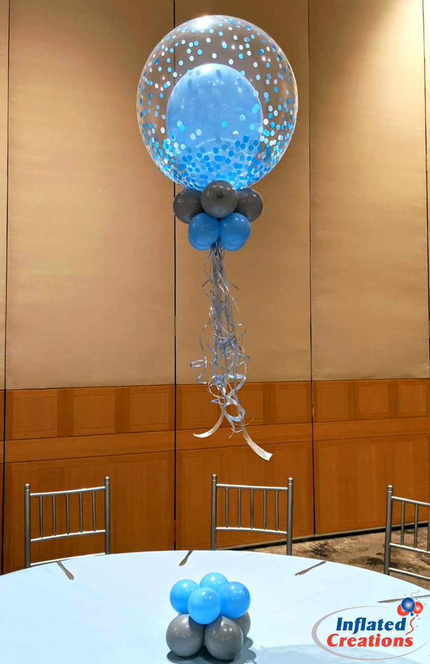 Baby Blue Confetti Balloons