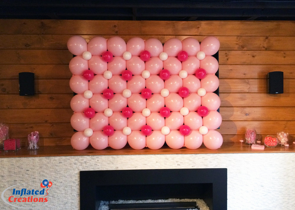 Quick-Link Pink Flower Wall