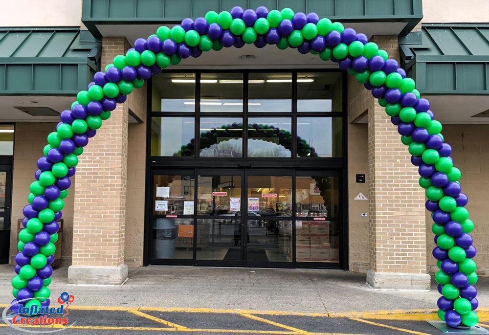 Spiral Arch - Purple & Green