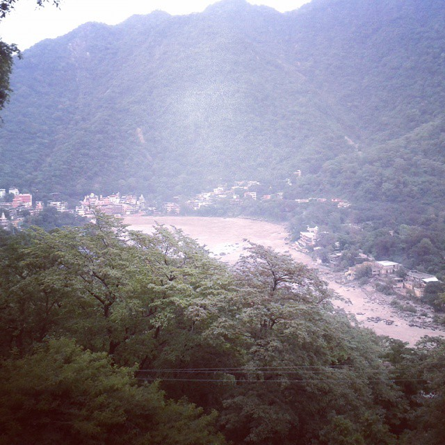 View of the Ganges River in Rishikesh