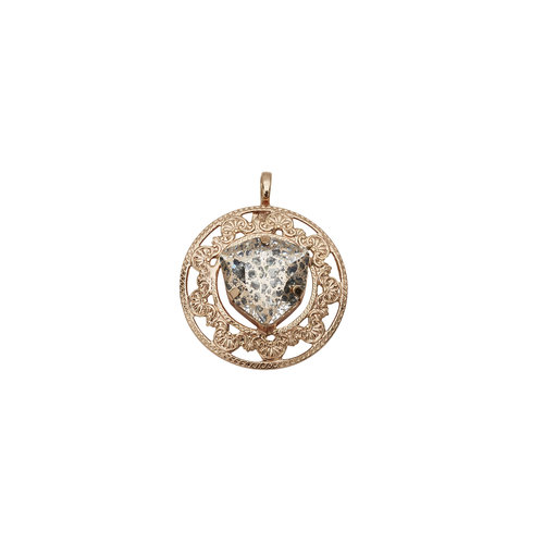 Arcadia rose gold disc pendant balyck jewellery arcadia rose gold disc pendant aloadofball Images