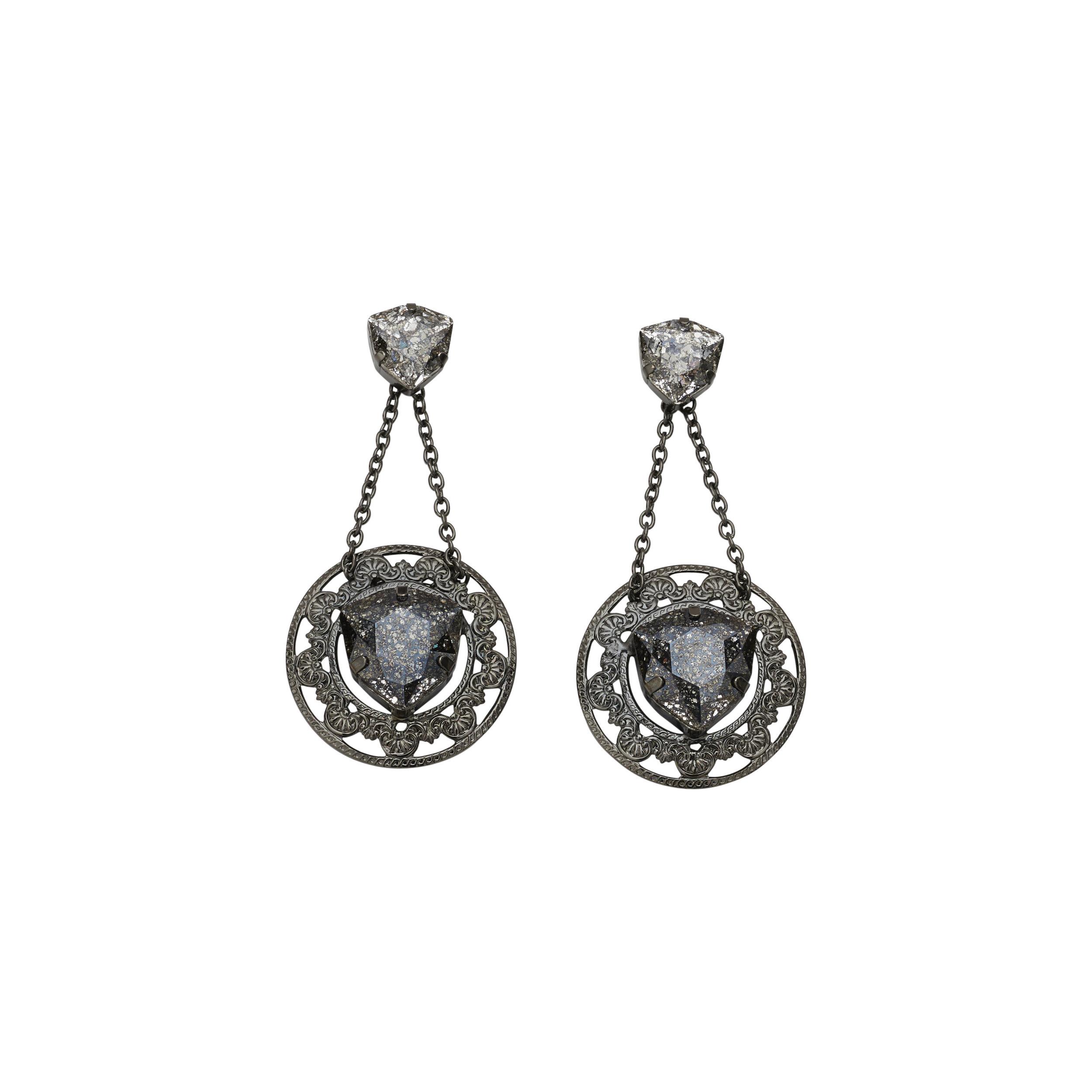 5da8d2ce4 Arcadia Gunmetal Earrings — BALYCK JEWELLERY