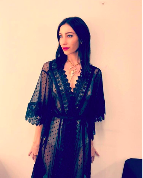 Jessica Origliasso from The Veronica's wearing the Balyck Scorpion Necklace