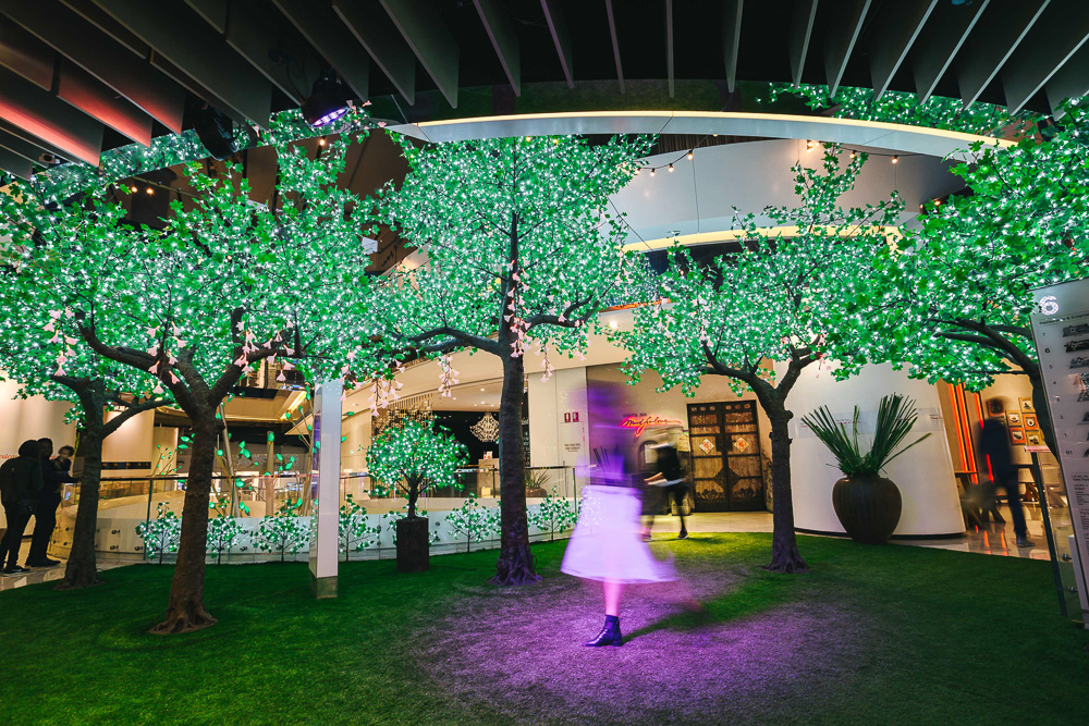 Westfield Sydney's Enchanted Garden Vivid Installation. Photo courtesy of Westfield Sydney. Image by James Ambrose.