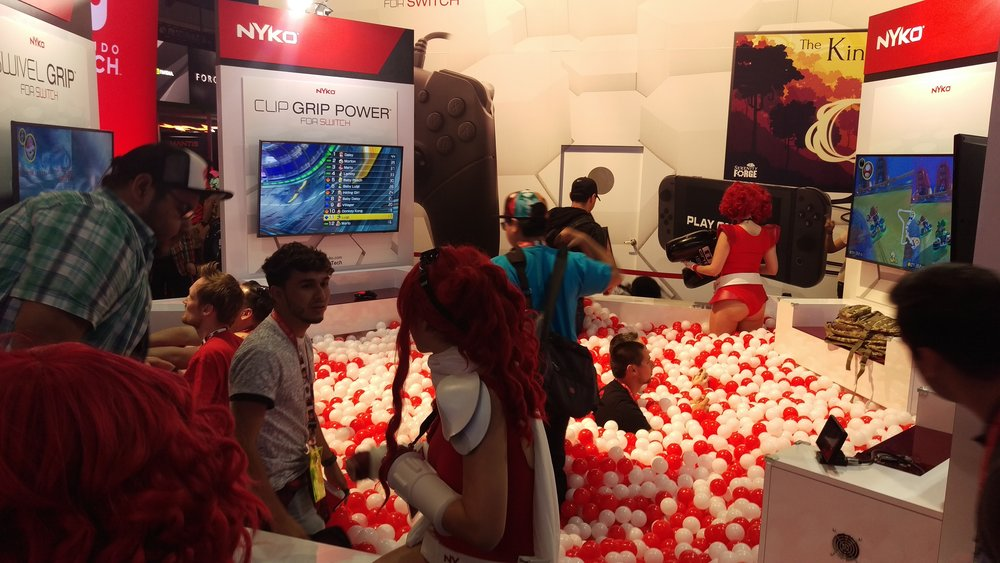 Nyko booth always lit.