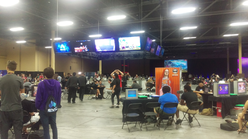 This was part bring your own console, part random open tourney area that anyone could get down on.