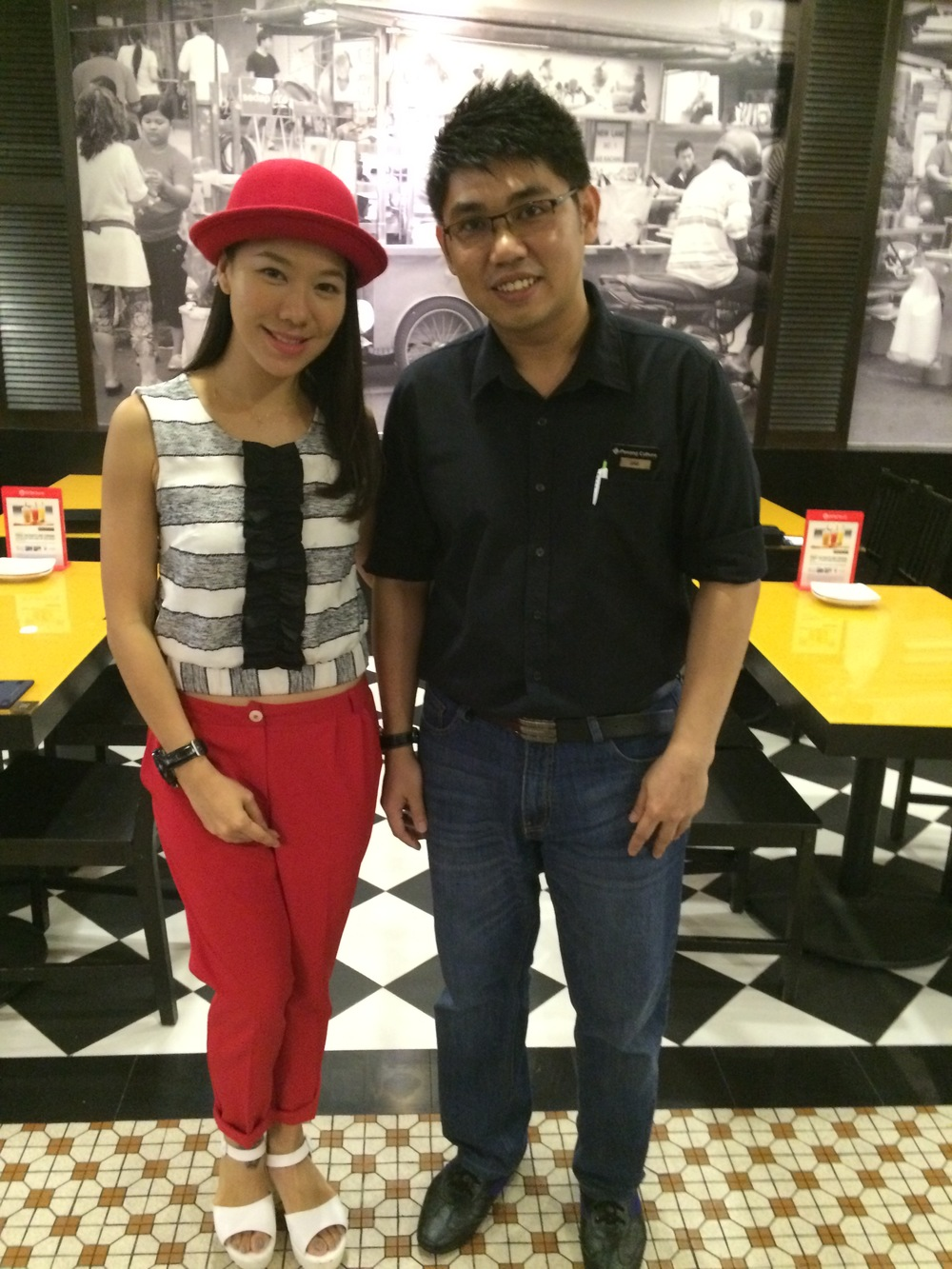 Mediacorp Artiste Belinda Lee dines at our outlet