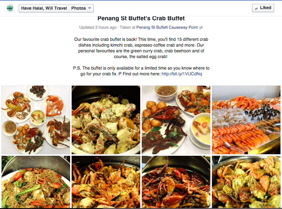 halal buffet in singapore | crab buffet
