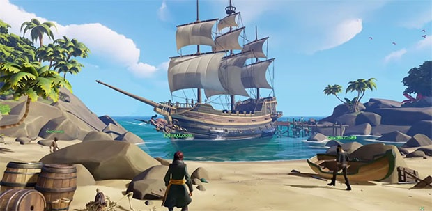 First look at Sea of Thieves' colorful world