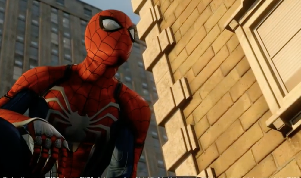 Insomniac's Spider-Man game running on PS4 Pro