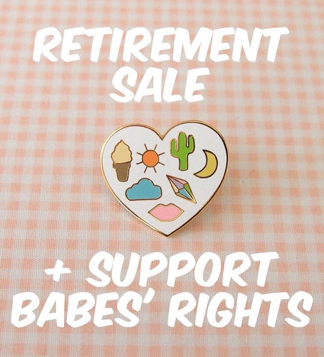 WB is going on a long weekend. Thank you to all the babes out there who followed along these past few years! It's been fun. For now, keep buying pins and all proceeds will go to Planned Parenthood and RAINN. Shop link in bio!