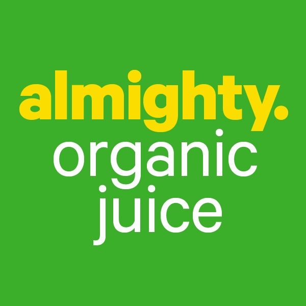 - Almighty organic juice for supplying yummy drinks to all of the openings and events in community month.