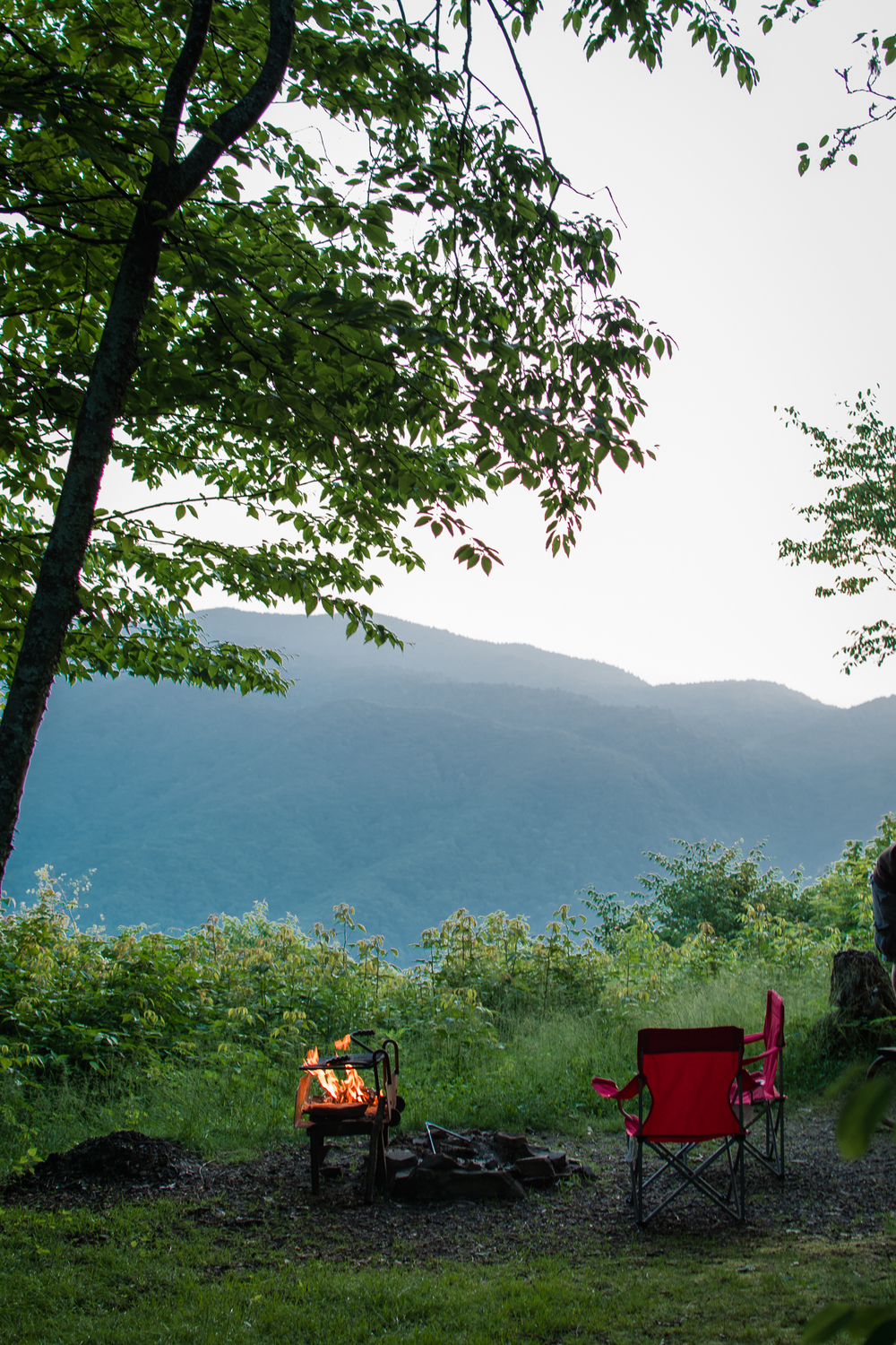 AshevilleFolk.com | Camping with Wine | Campground: Mile High