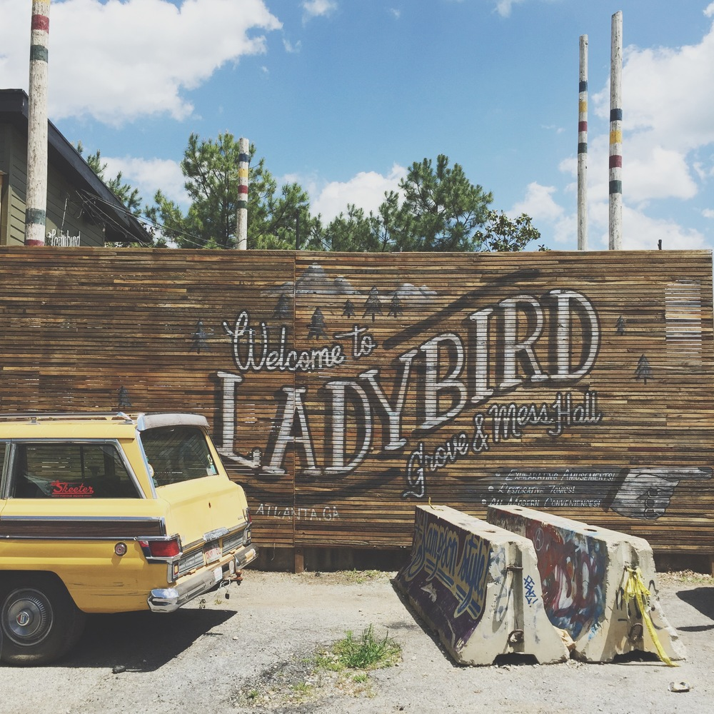 AshevilleFolk.com | Atlanta City Guide with Samantha Cole. Ladybird makes you feel like yo're in the middle of the woods right within the city. Complete with a screened porch and wooden camp benches, Ladybird has the whole camp vibes thing down.