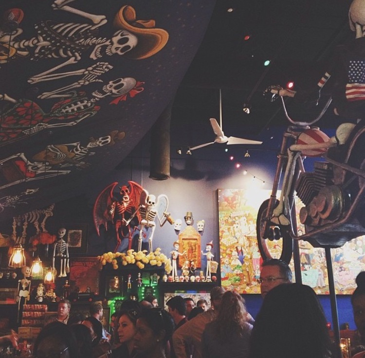 AshevilleFolk.com | Atlanta Georgia City Guide with Samantha Cole : Bone Garden. If you love authentic Mexican food, and you don't mind a paper mache Dia de los Muertos-style skeleton staring down at you during your meal, then you need to experience Bone Garden.