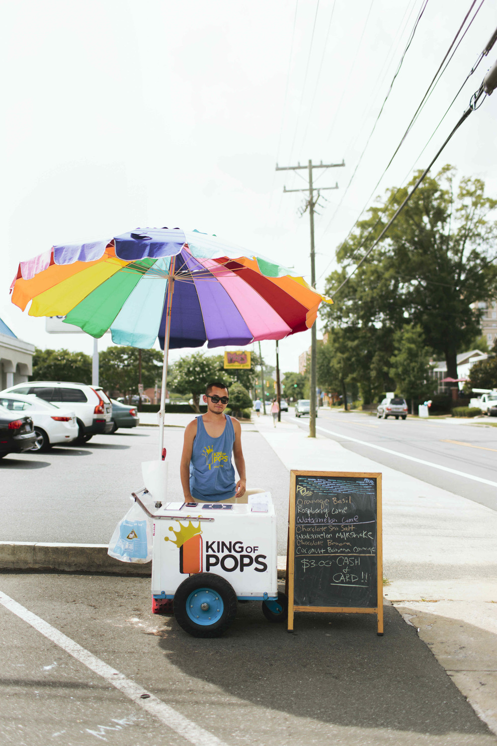 AshevilleFolk Summer City Guide: Charlotte NC with Megan Gielow. King of Pops. Popsicle stand with a variety of unique flavors. Their food cart location is posted daily on their website.