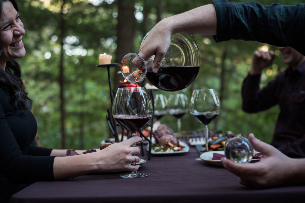 Asheville Folk: A Grown-up Halloween by Chelsea Lane. Wear black. Pour wine. Invite friends over to enjoy dining out doors in the crisp air. I will also accept  plaid for your attire.