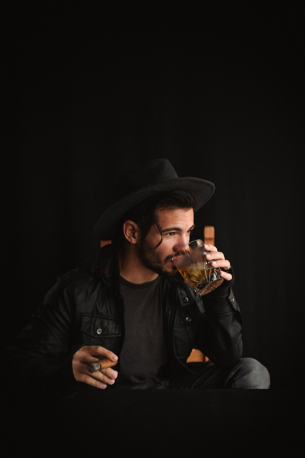 Wind down the evening with a round of cigars, pipes or, um, water. Photo by Chelsea Lane Photography.