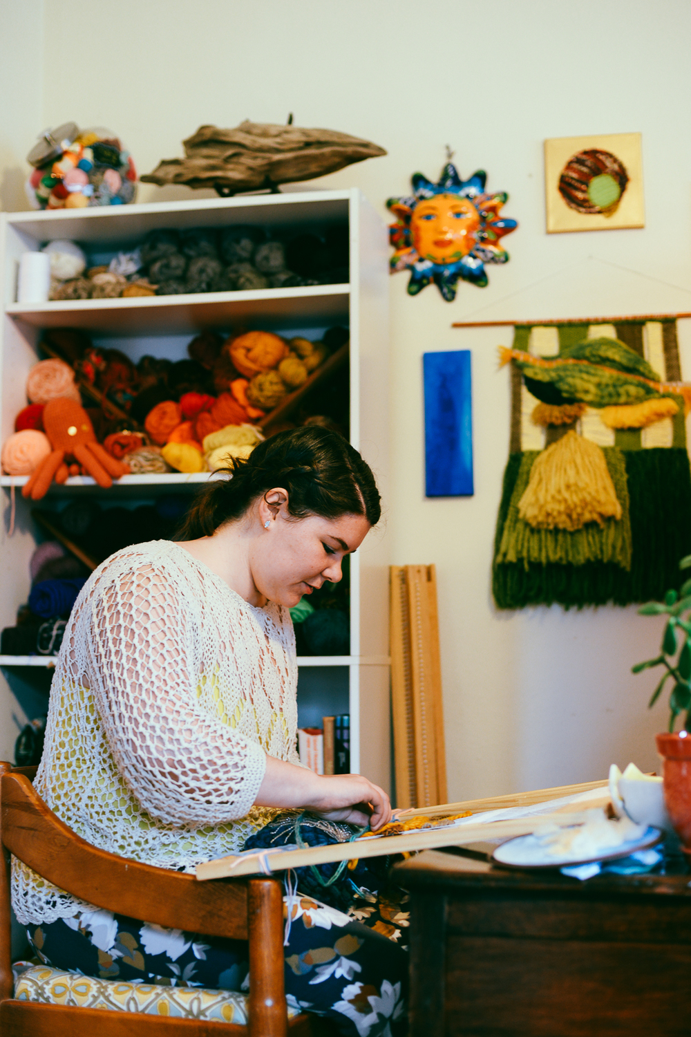 Asheville Folk Interview with Sally Garner, Fiber & Textile Artist in Asheville, North Carolina. Photos by Shonie Joy Kuykendall. See more artist interviews at ashevillefolk.com