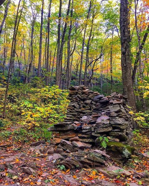 If it weren't for the legend and a mark on the map, the place would probably be lost to time, just the corner of an old structure lost in the woods. Rattlesnake Lodge Trail; words by Ian Dunn, photo by Alyssa Dack