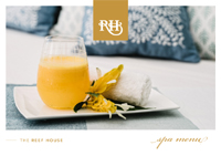 Reef House Spa Deluxe Spa Menu design by Spa Wellness Consulting Australia