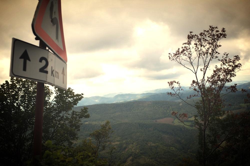 Vi ska upp på Monte Nerone.