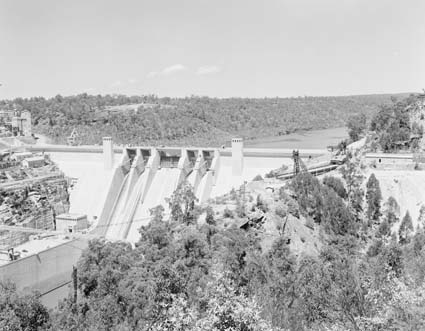 Floodgates, Warragamba Dam, New South Wales. Photographer - John Tanner, 1960.  National Archives of Australia .