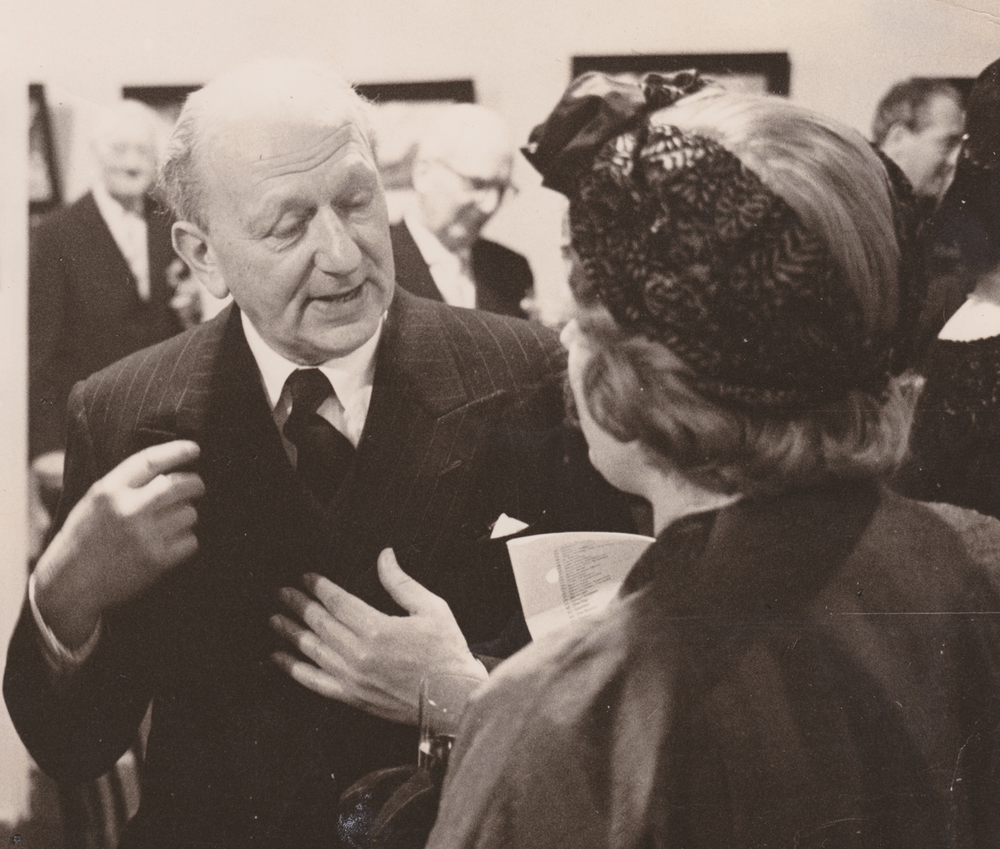 Monty at an exhibition of his paintings, Cologne January 1961