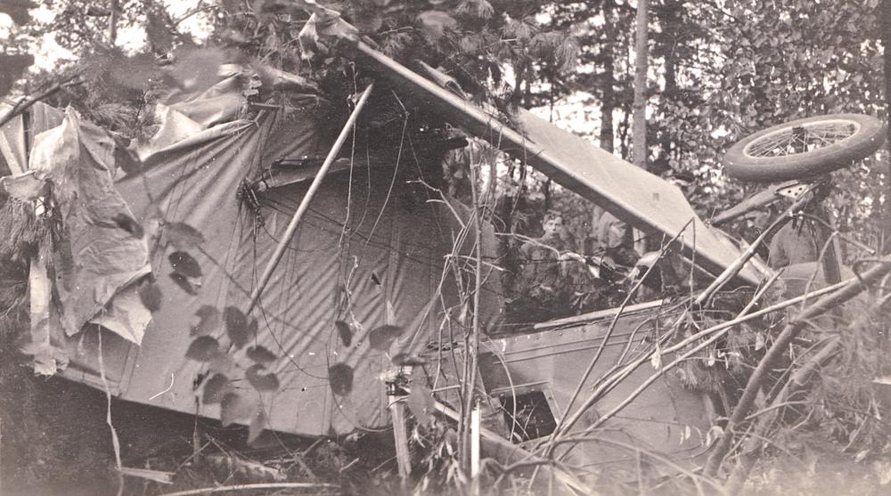Monty's Plane crash in october 1917