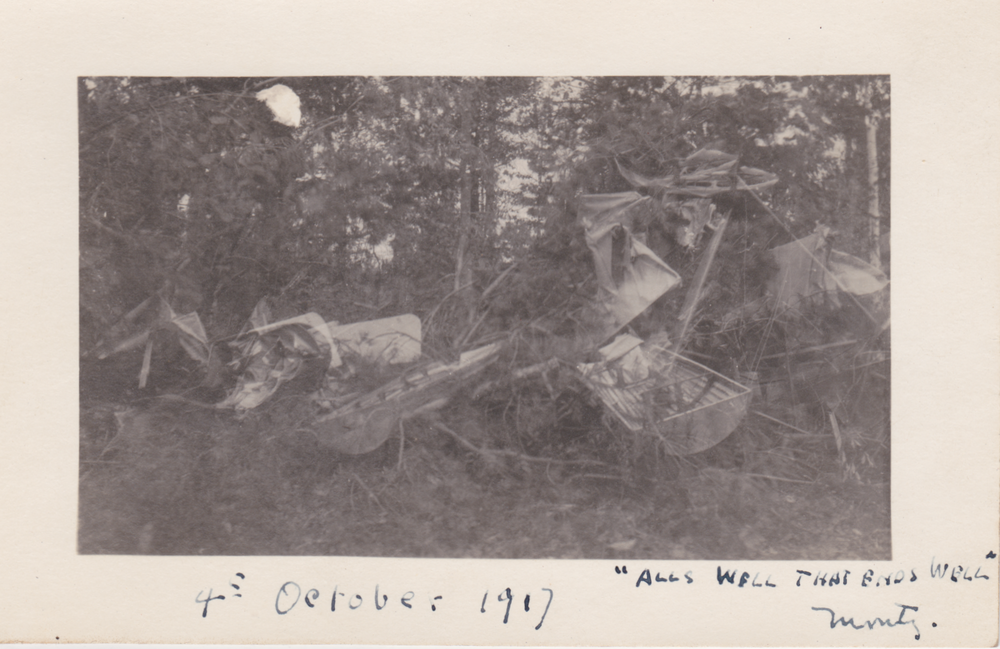 Monty's Plane crash in october 1917