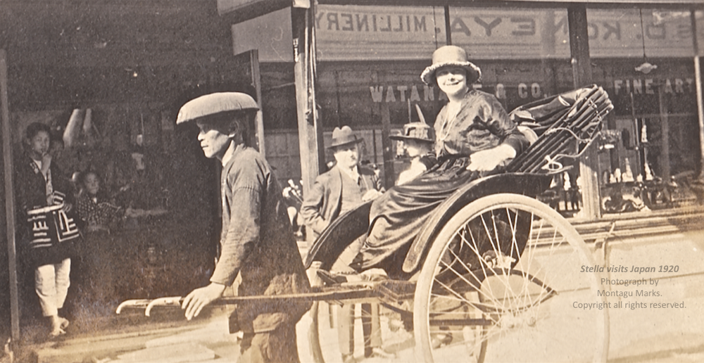 stella visiting art shops in japan 1920