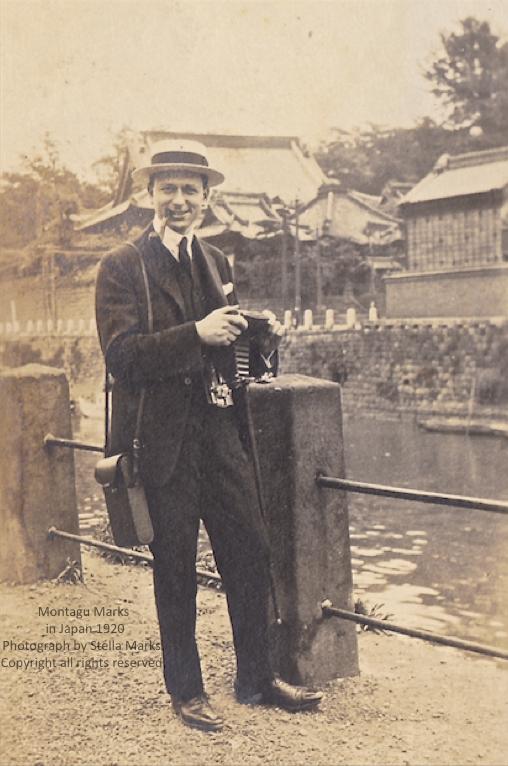 Monty camera ready in japan 1920