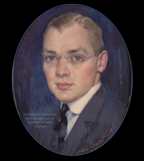 Portrait Miniature of Knox Studebaker Ulrich by Stella Marks, 1917. Copyright Stella Marks' Estate all rights reserved. Private Collection.
