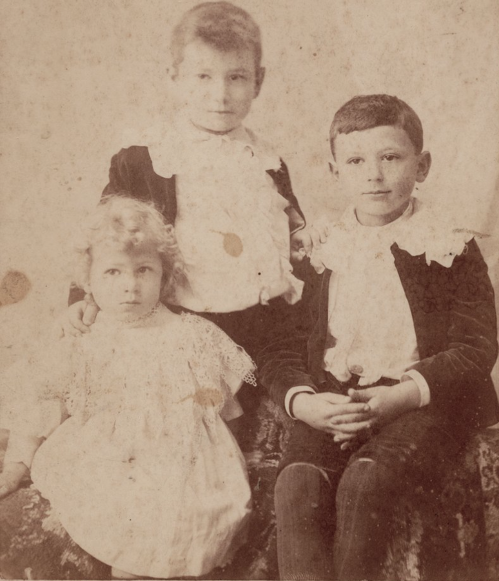 ThRee marks brothers : Kay aged 2, Roy aged 7 and Monty aged 5