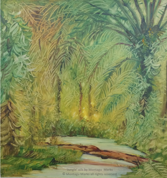 'Jungle' oils by Monatagu Marks. Copyright the artist. All rights reserved