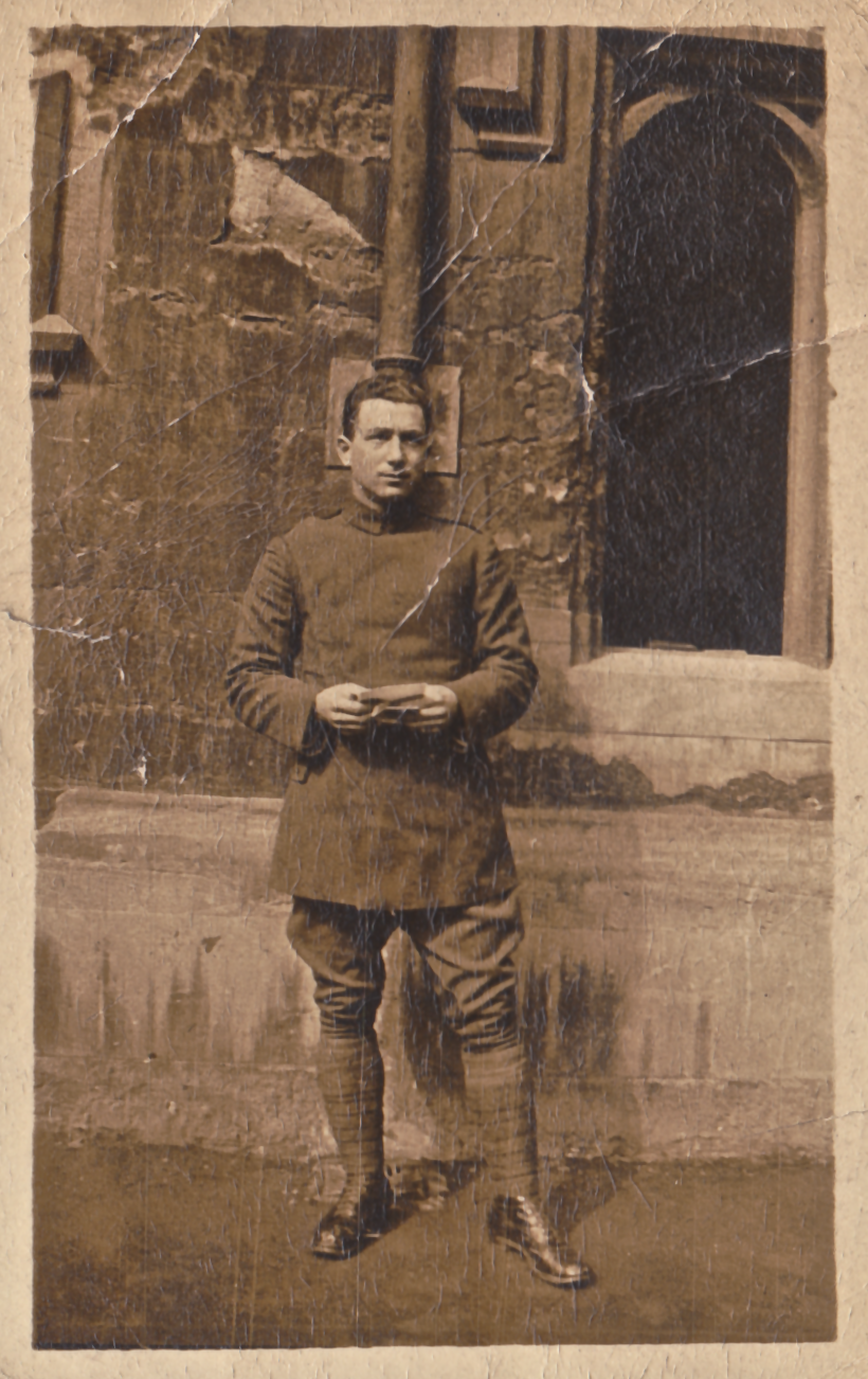 Monty's elder brother, Royal Flying Corp Pilot, Craig Royston, at Oxford in Spring 1917 just before his death.