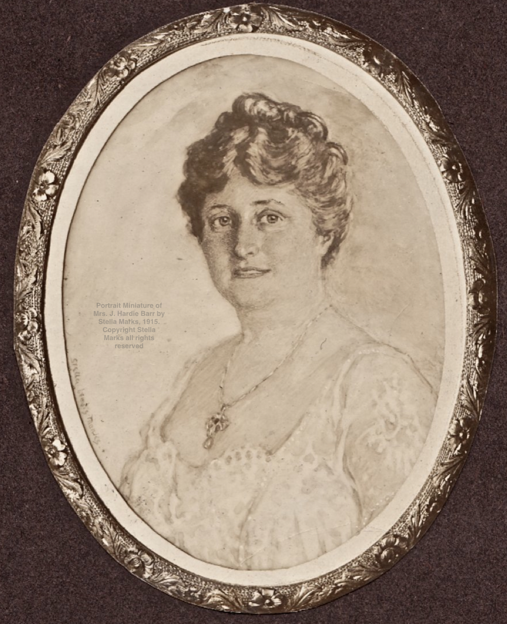 After A Portrait Miniature of Mrs. J. Hardie Barr by Stella Marks, 1915. Copyright Stella Marks all rights reserved