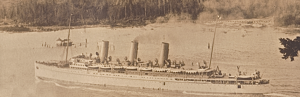 Monty and Stella Marks sail to Japan 1920 on 'The Empress of Russia'