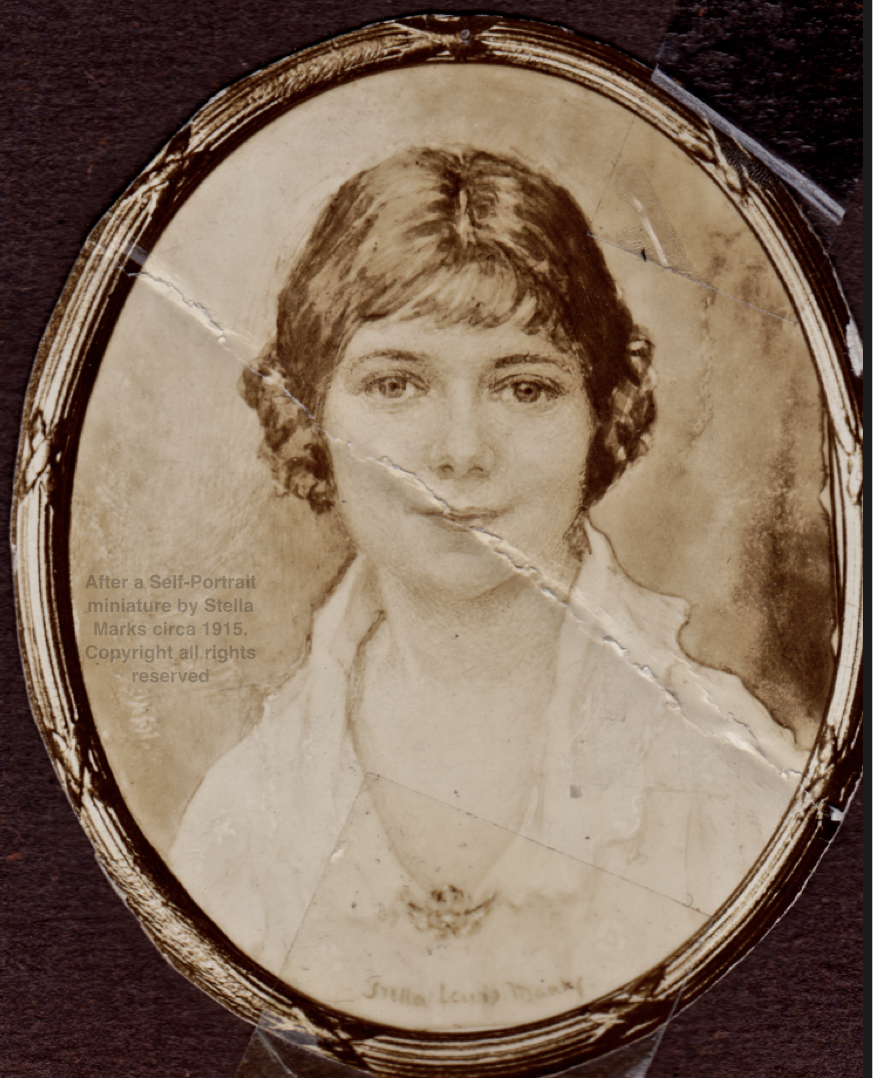 After a Self-Portrait by Stella Marks circa 1915. Copyright Stella Marks All rights Reserved.