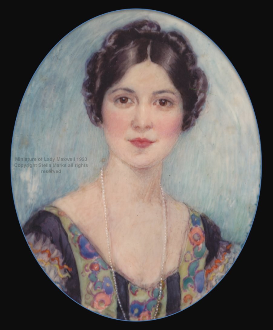 Miniature of Lady Maxwell 1920, JApan. Copyright Stella Marks' Estate all rights reserved. Private Collection.