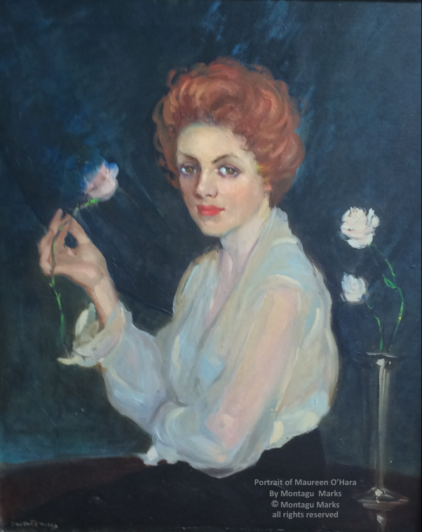 A Portrait of Maureen O'Hara by montagu marks Ca 1959. Copyright Montagu Marks' Estate All rights reserved.