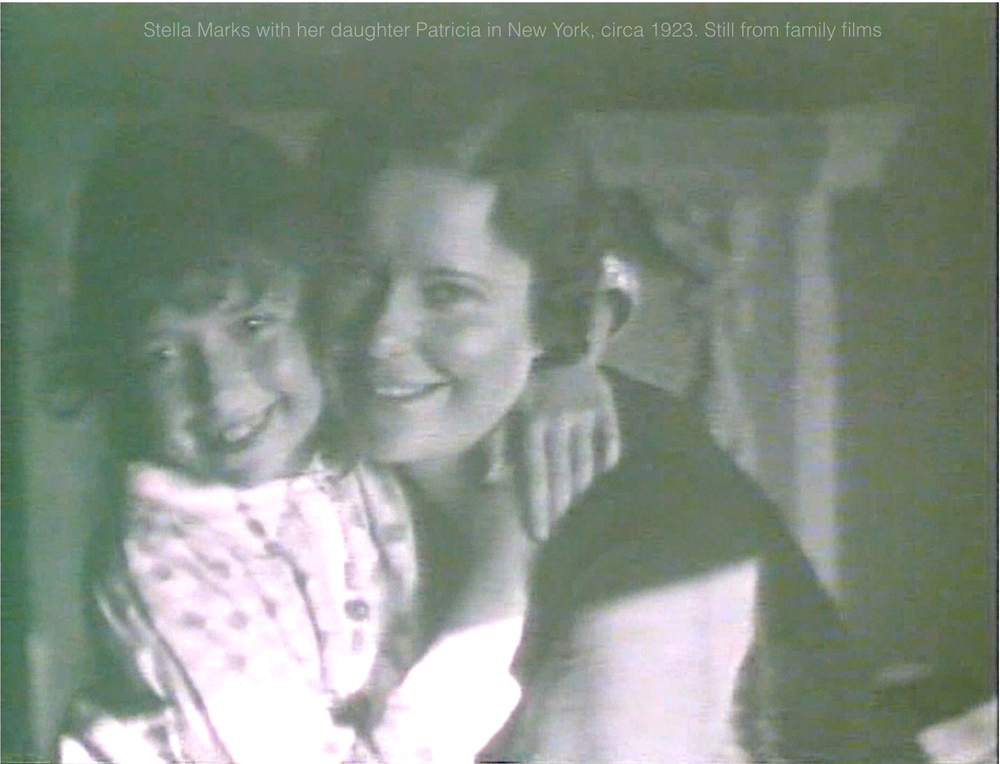 Stella Marks and her daughter Patricia circa 1923, New York [still from family films]