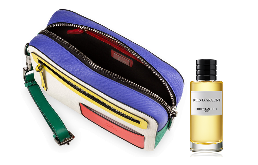 Christian LouboutinAliosha Pouch, Christian Dior Bois d'Argent Parfum .