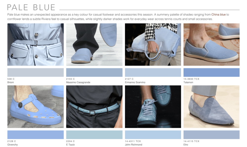 Theo Blix ®  SS16 KEY COLORS  TRENDS in Pale Blue, Pastel blue WGSN